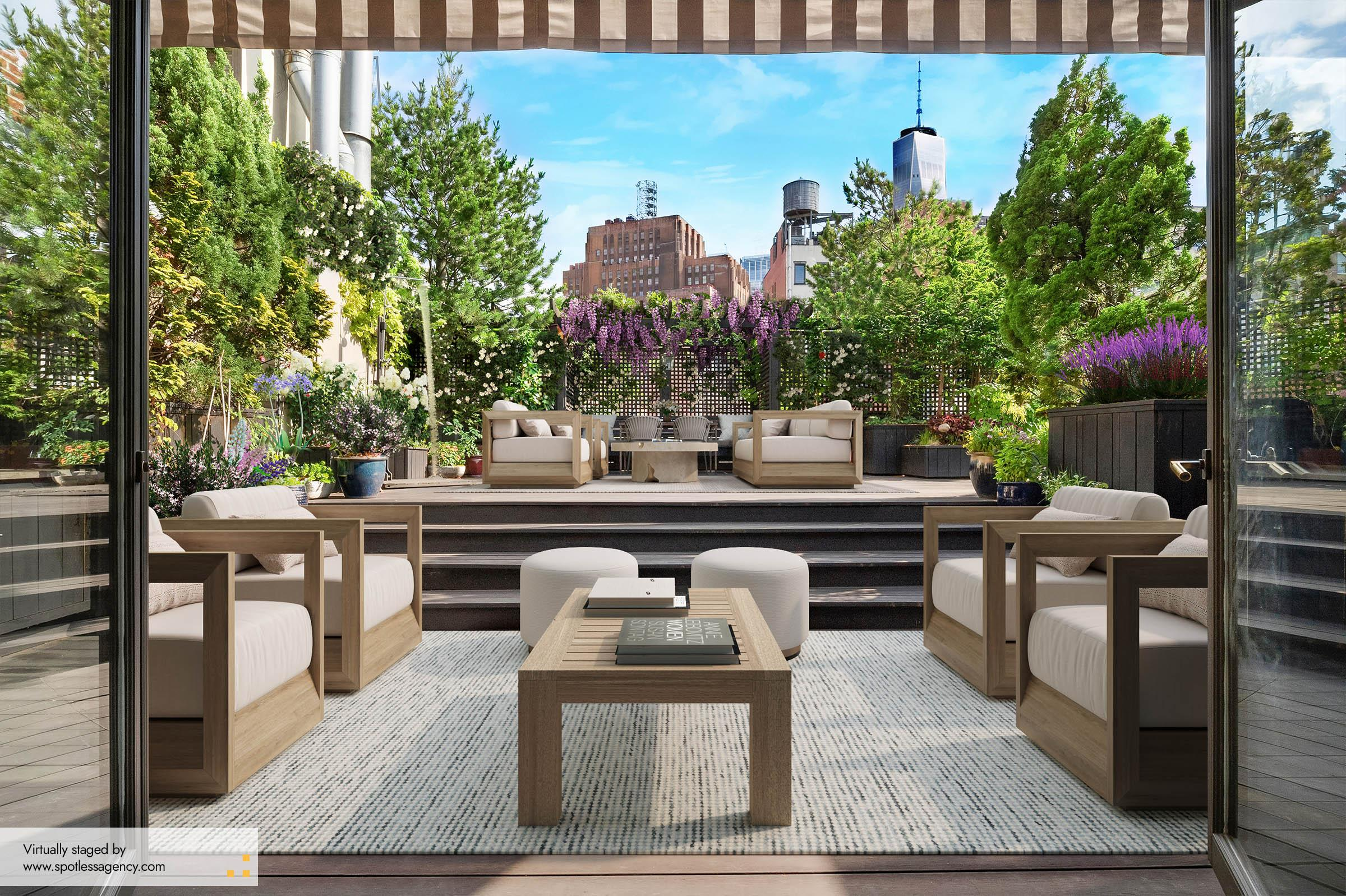 Terrace Virtual Staging