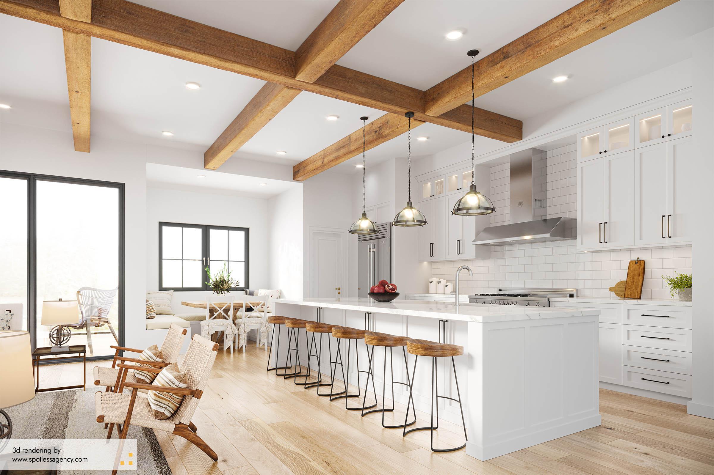 Interior Rendering  Kitchen 8