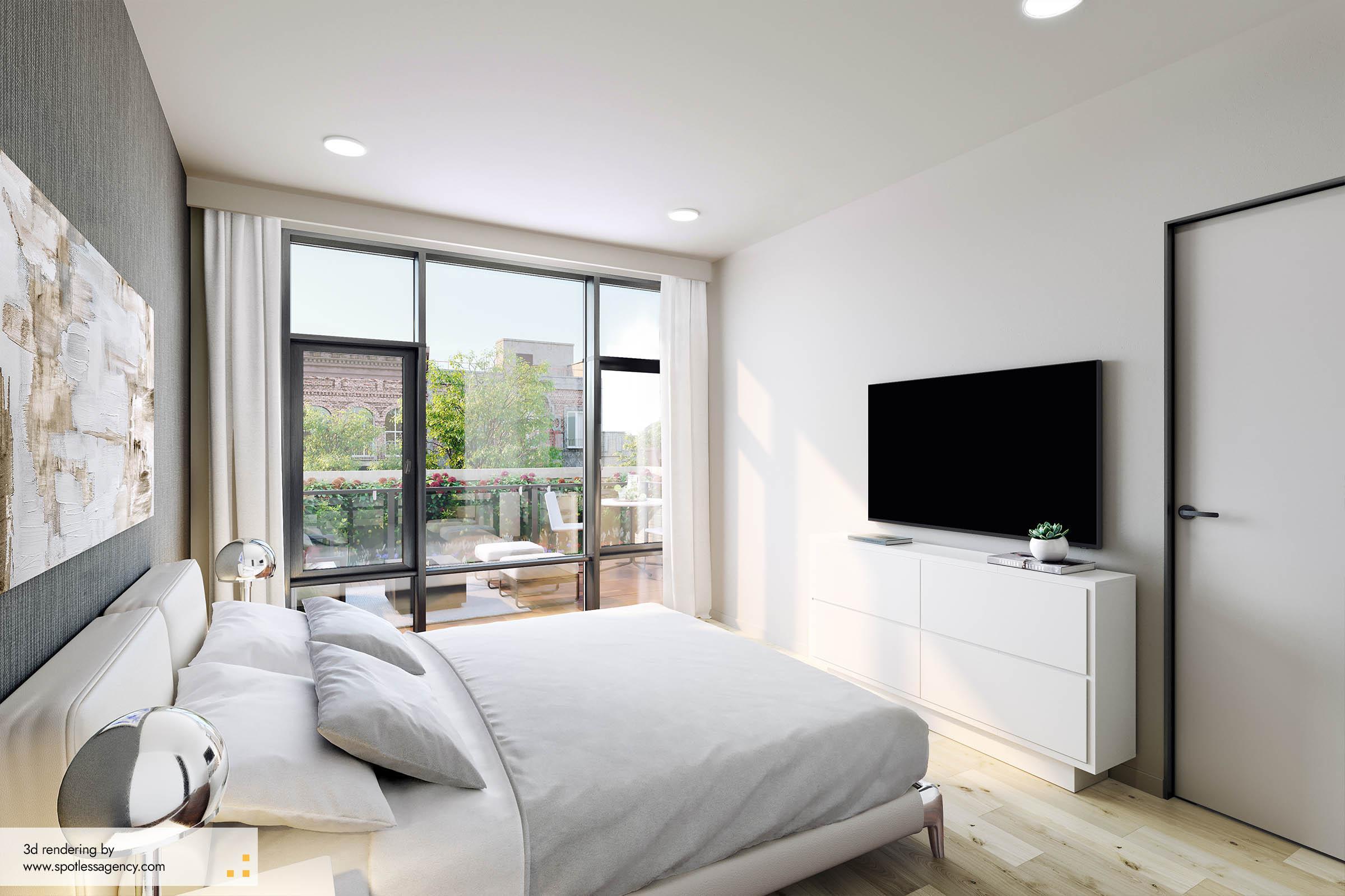 Interior Rendering  Bedroom 2