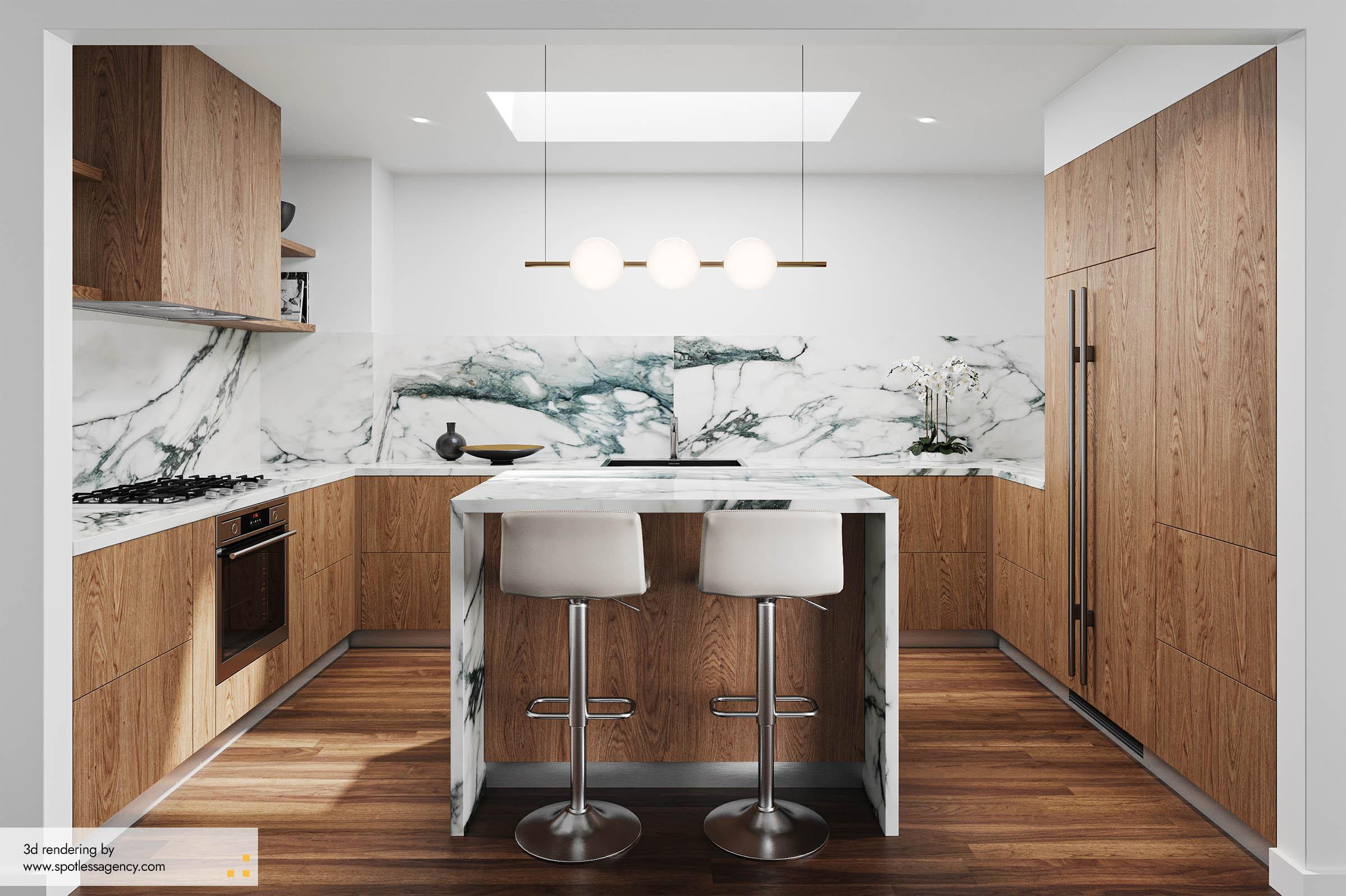 Interior Rendering  Kitchen 2