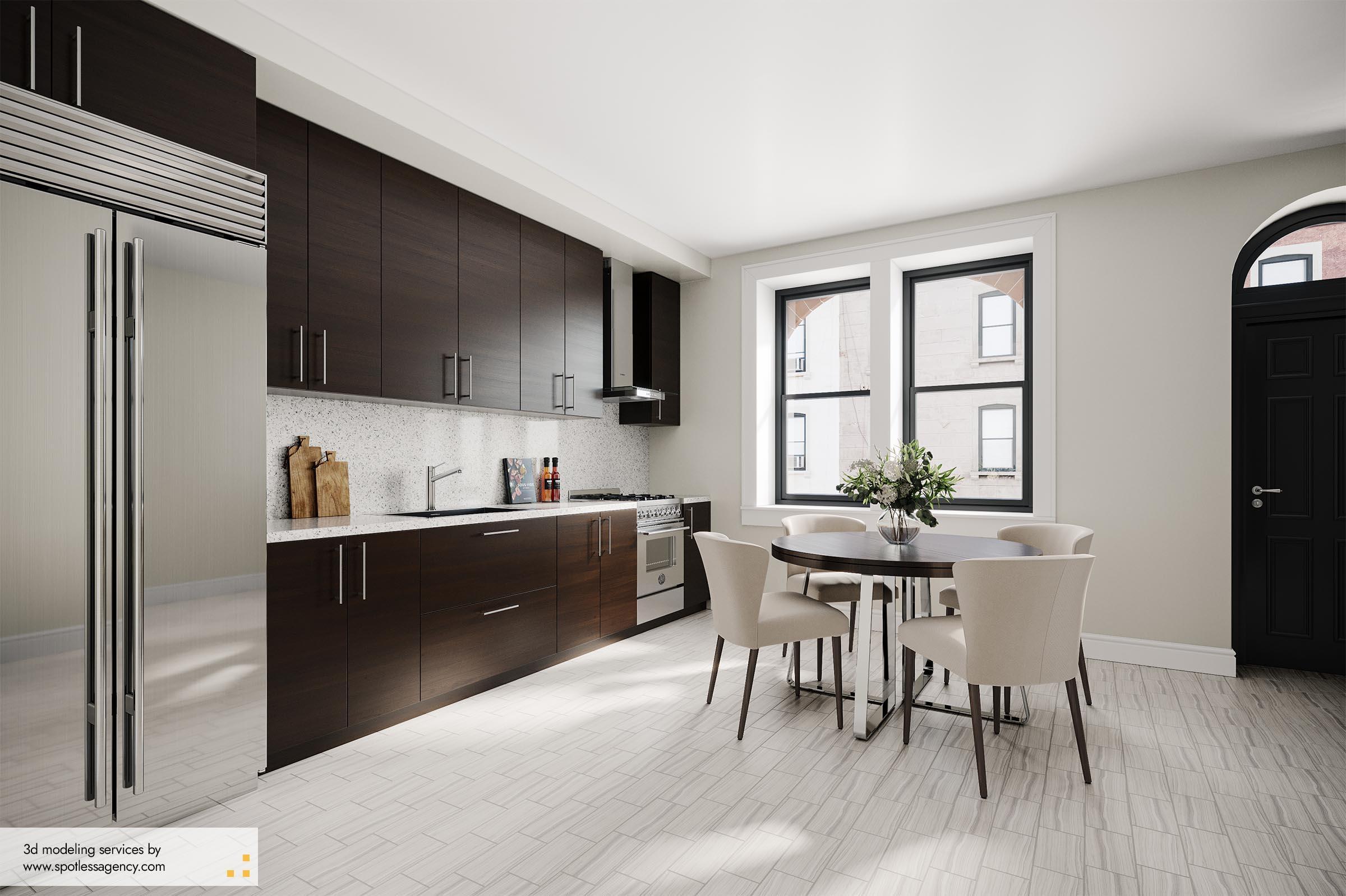 Interior Rendering  Kitchen 9