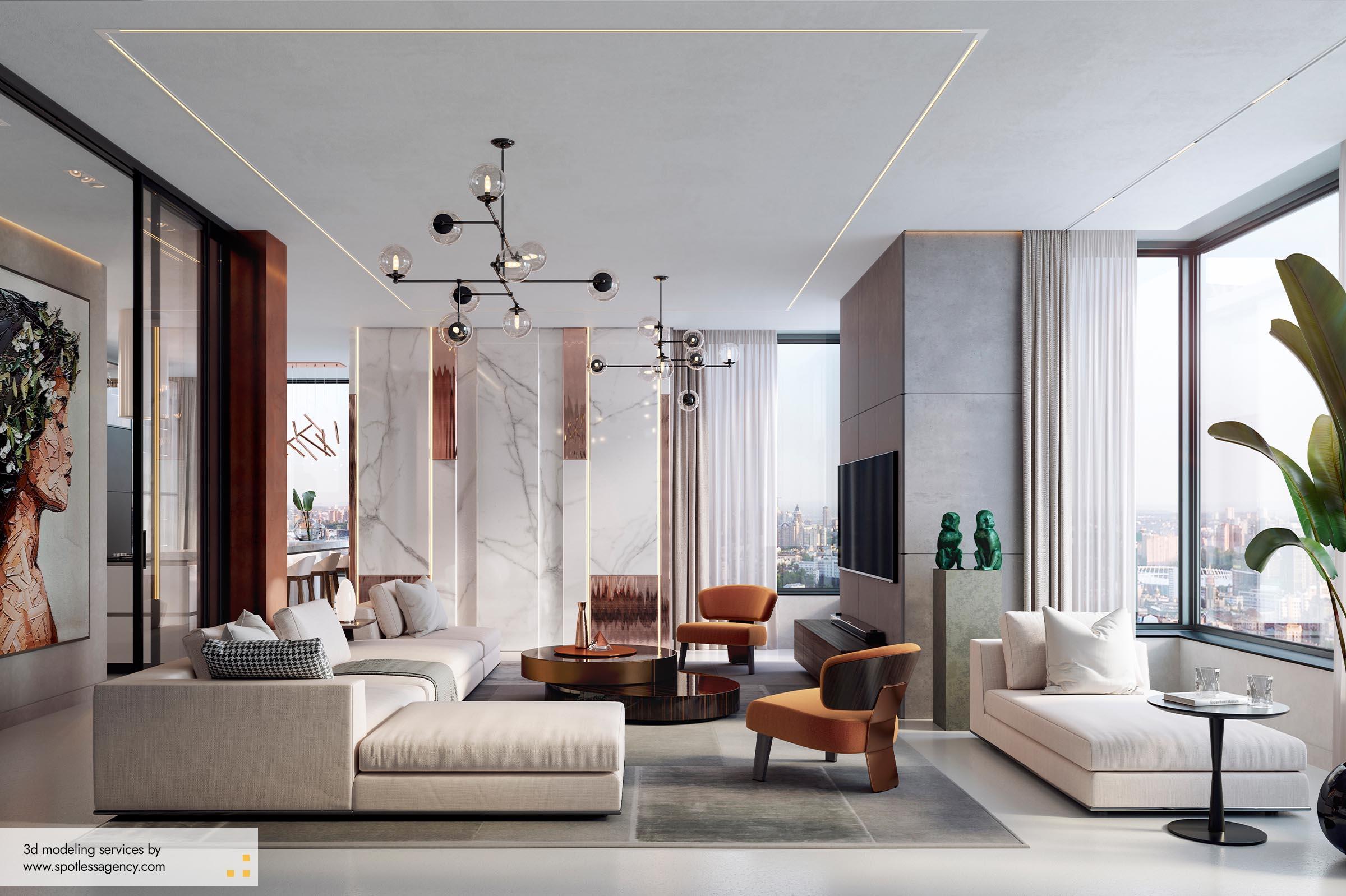 Interior Renderings  Living 9