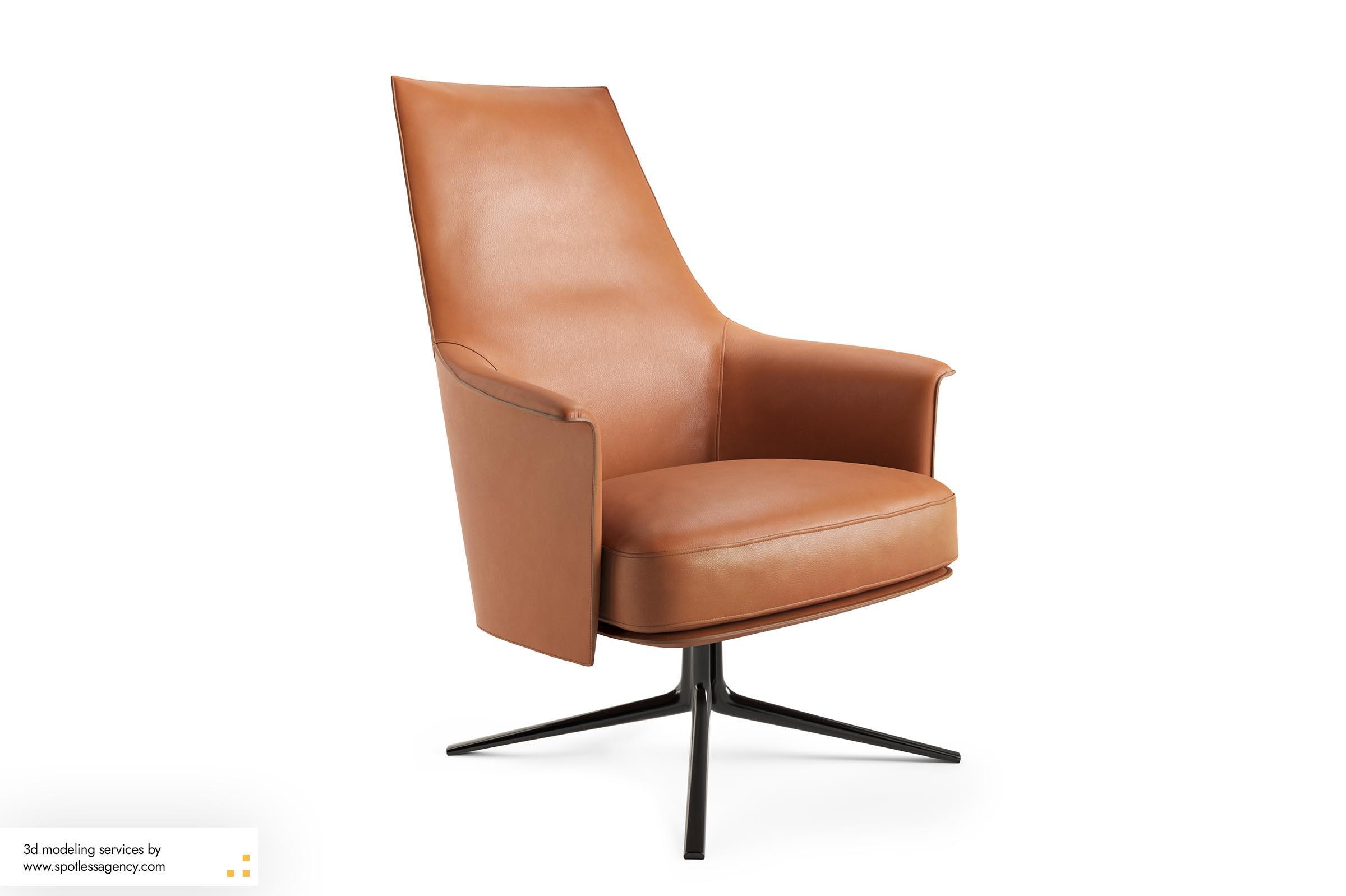 Armchairs 3d Model 6