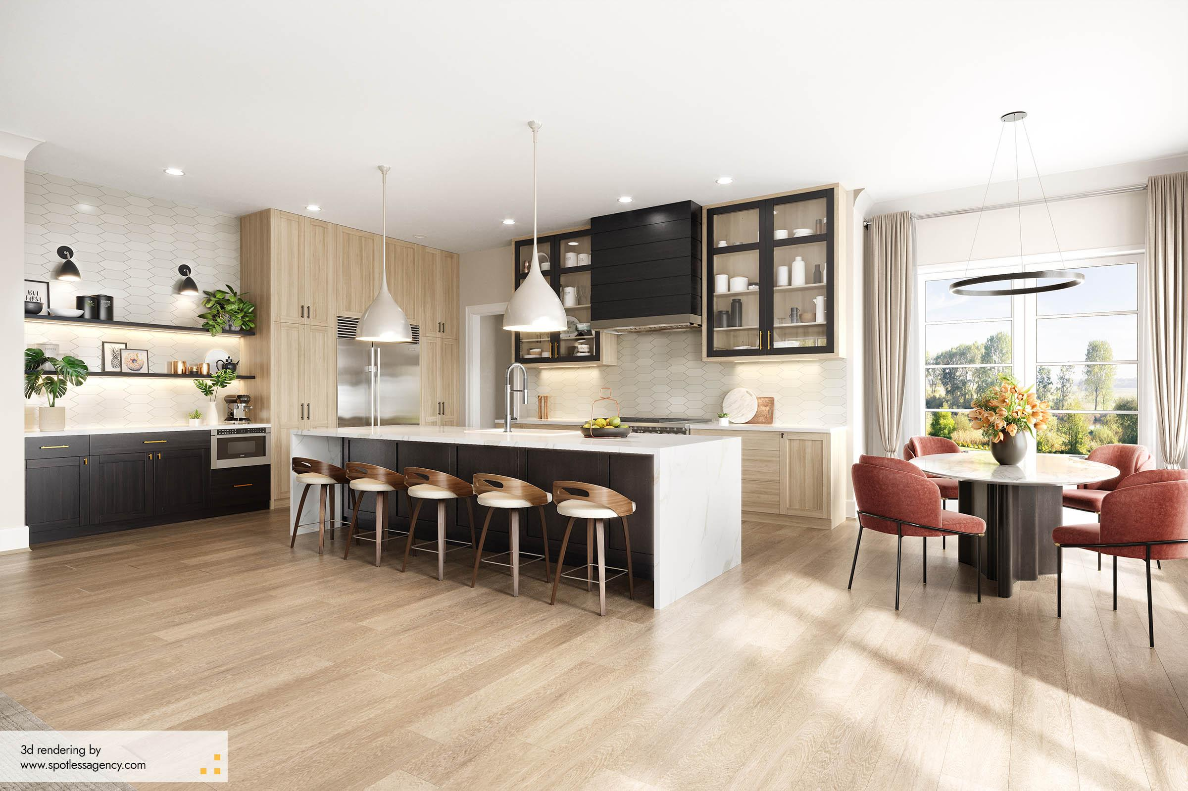 Interior Rendering  Kitchen 6