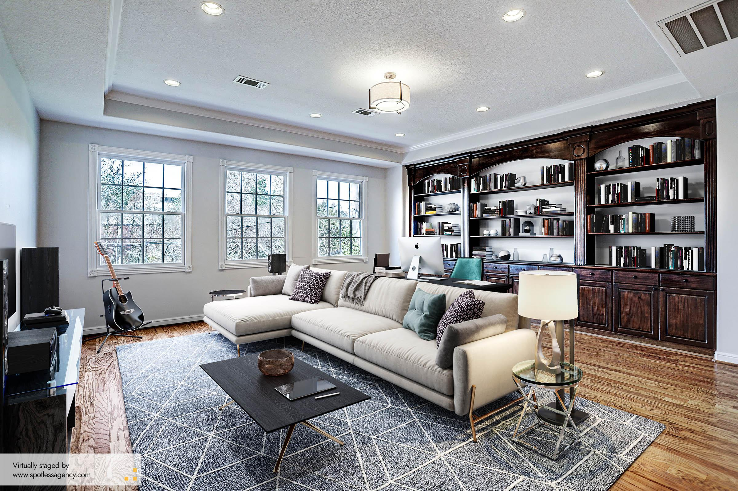 Virtual Staging Transitional Style