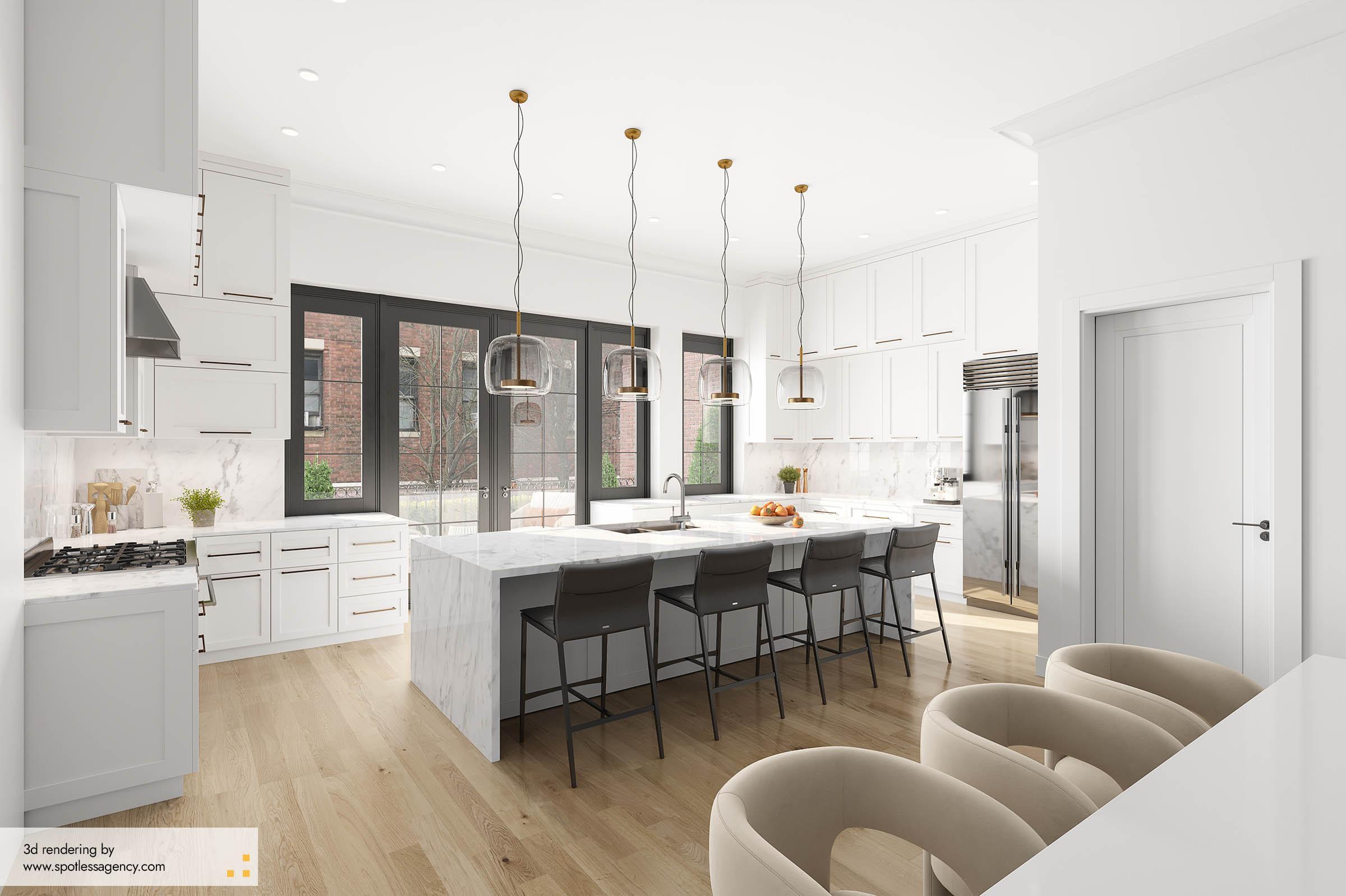 Interior Rendering  Kitchen 3