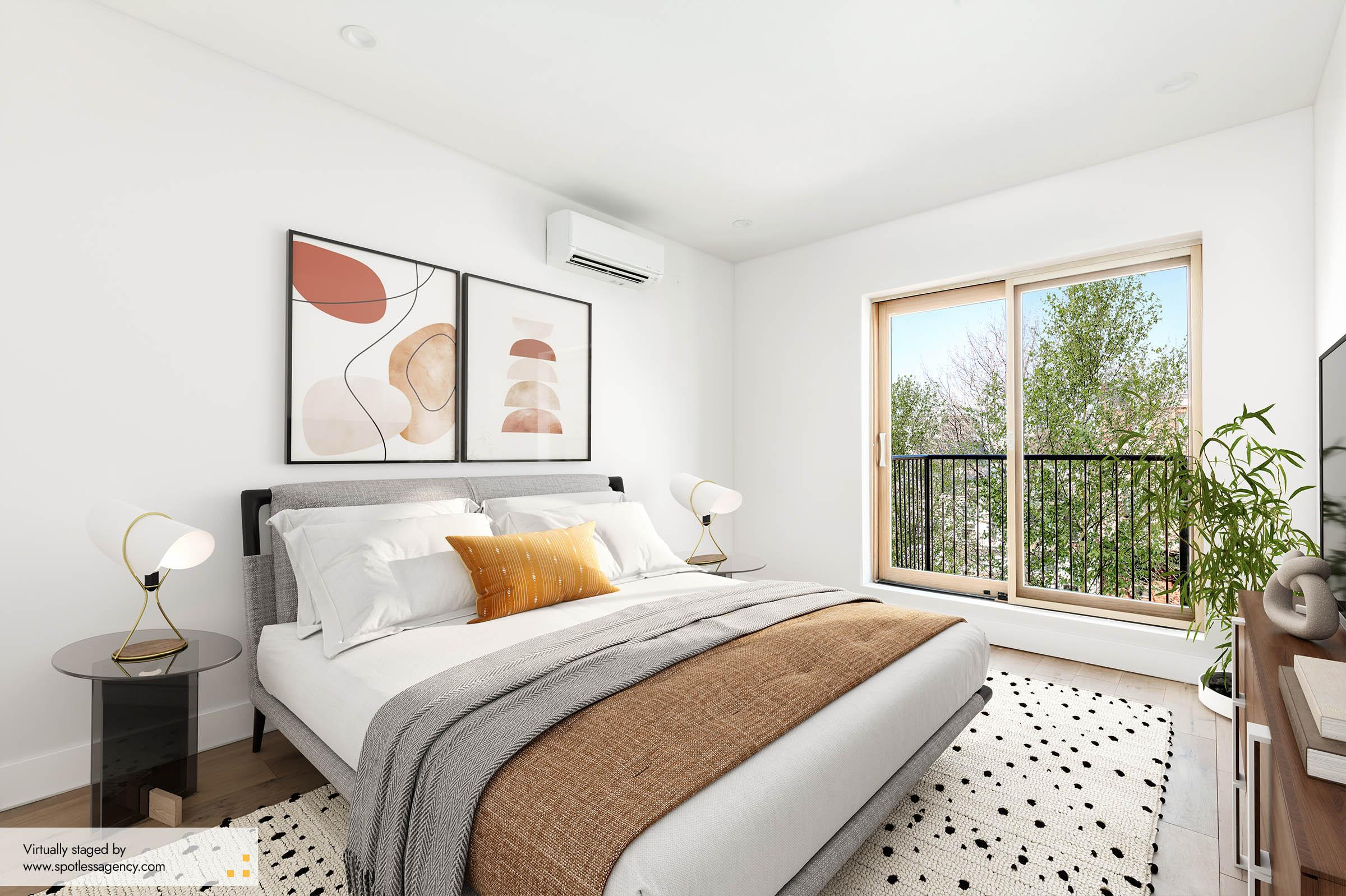 Virtual Staging Mid-Century Modern Style