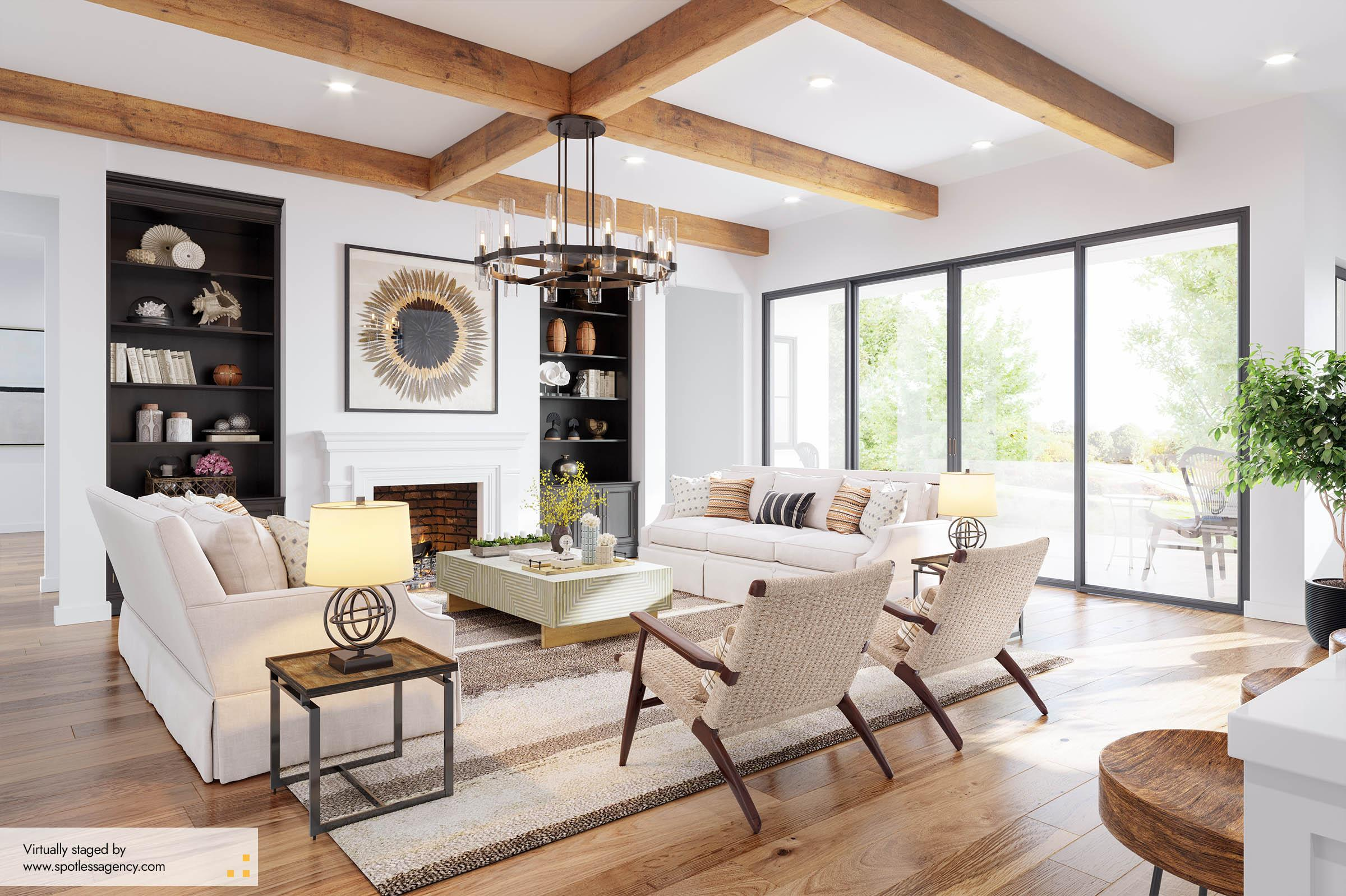 Virtual Staging Farmhouse Style