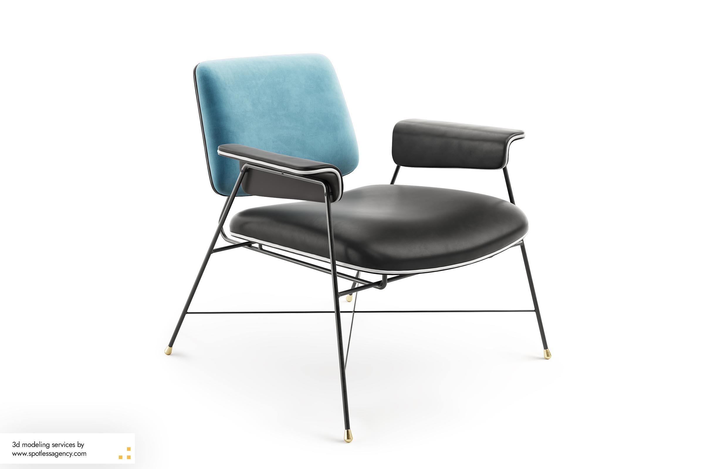 Armchairs 3d Model 1
