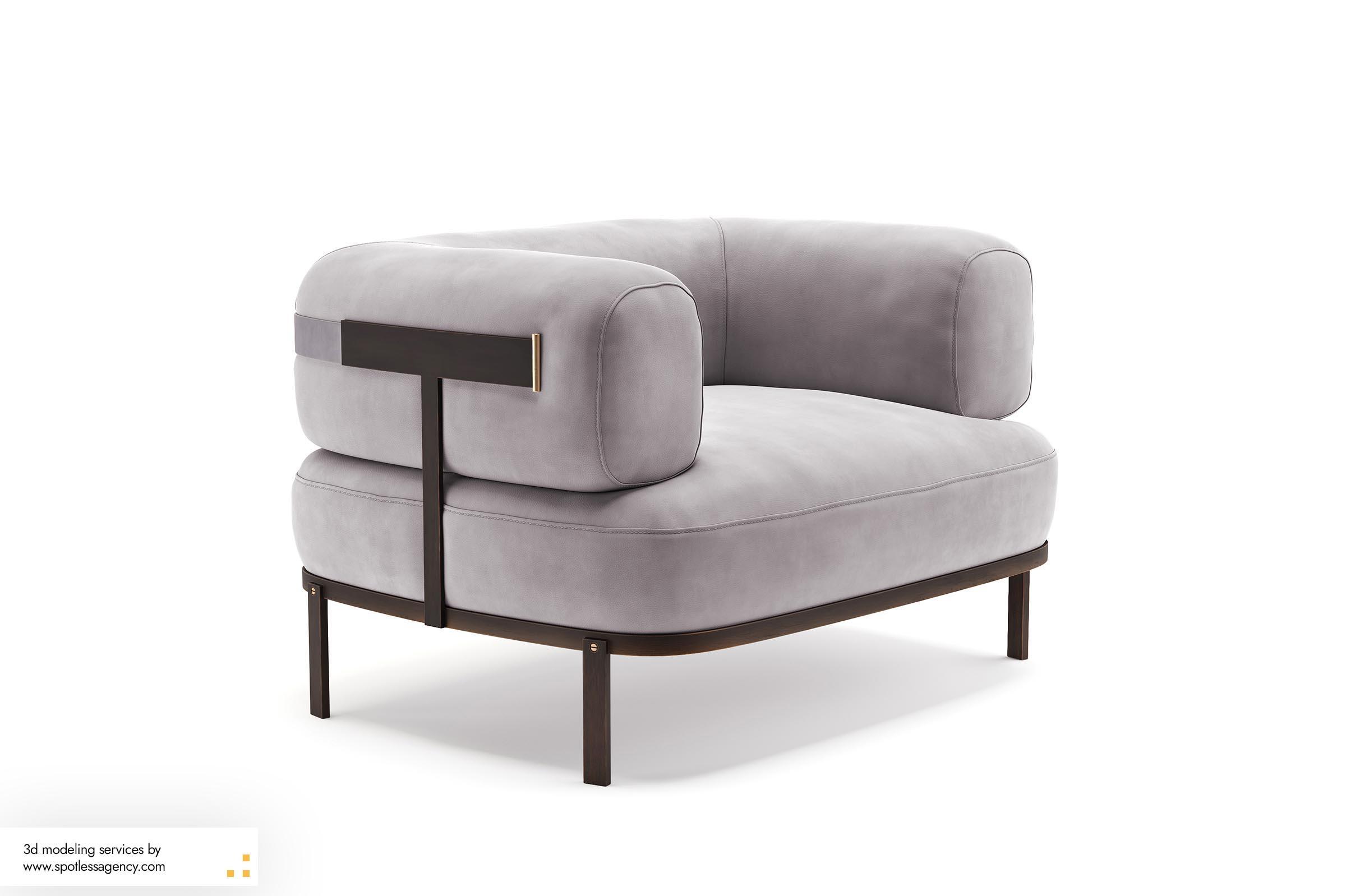 Armchairs 3d Model 2