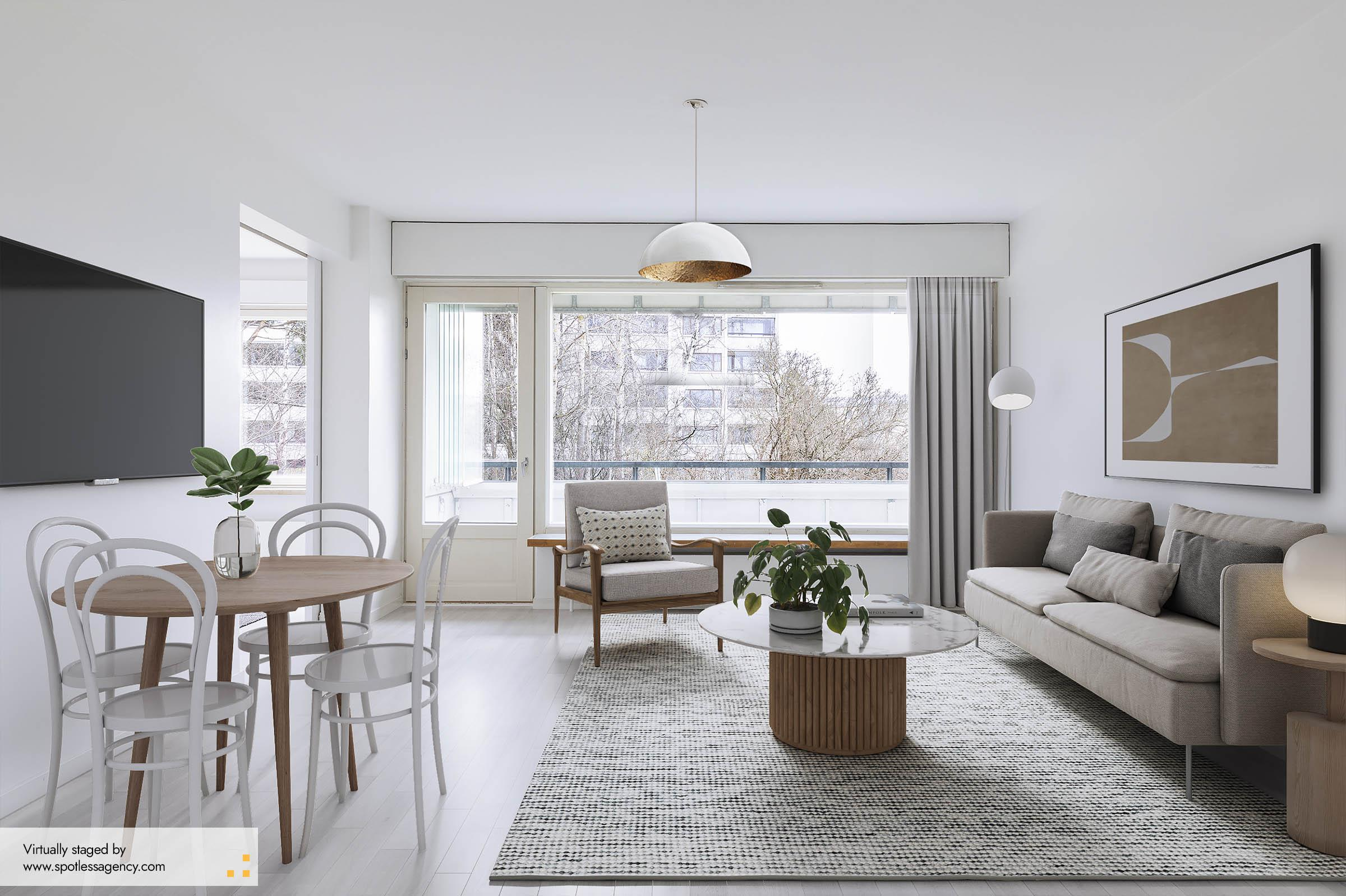 Living-Dining Virtual Staging