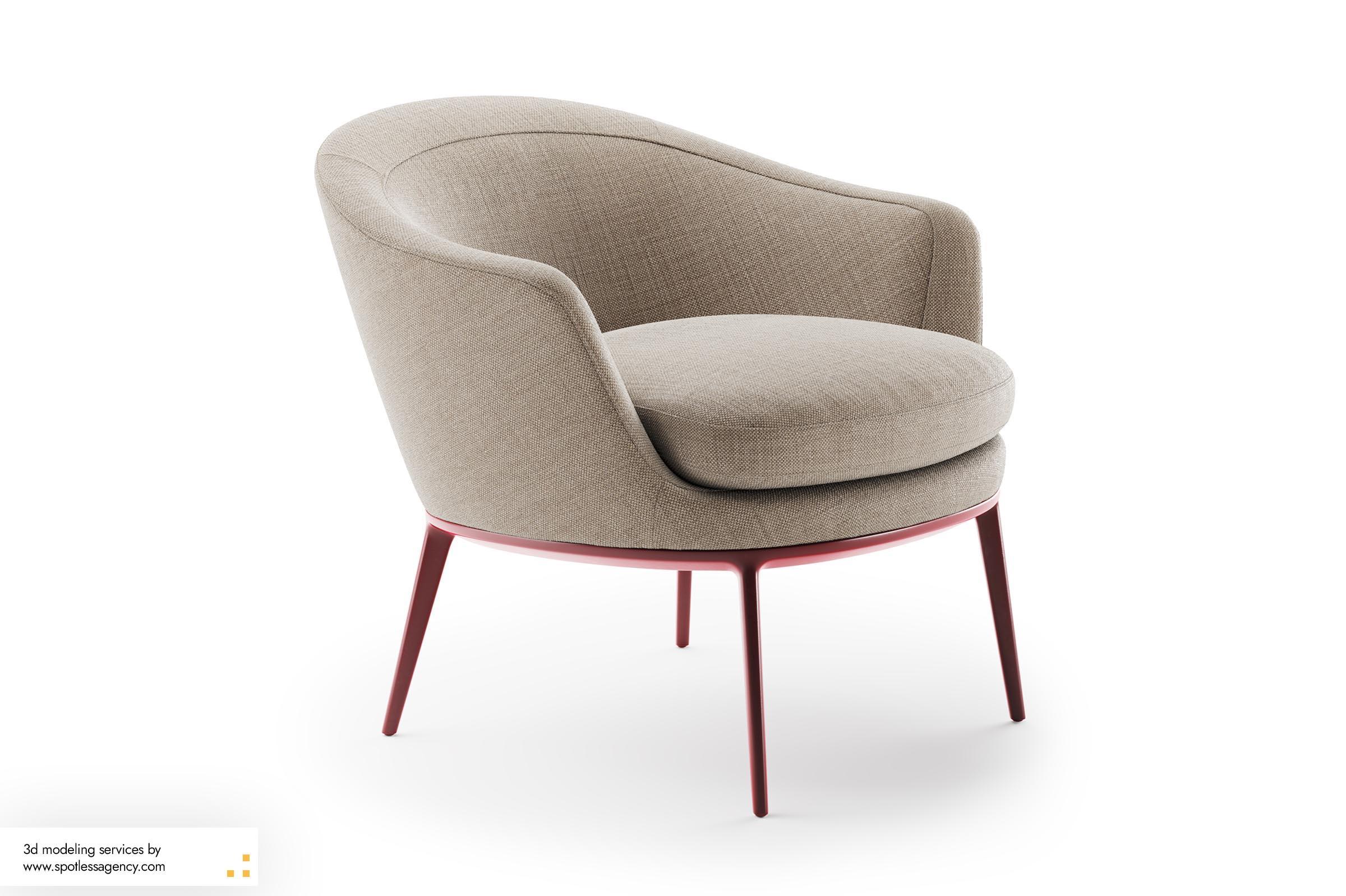 Armchairs 3d Model 3