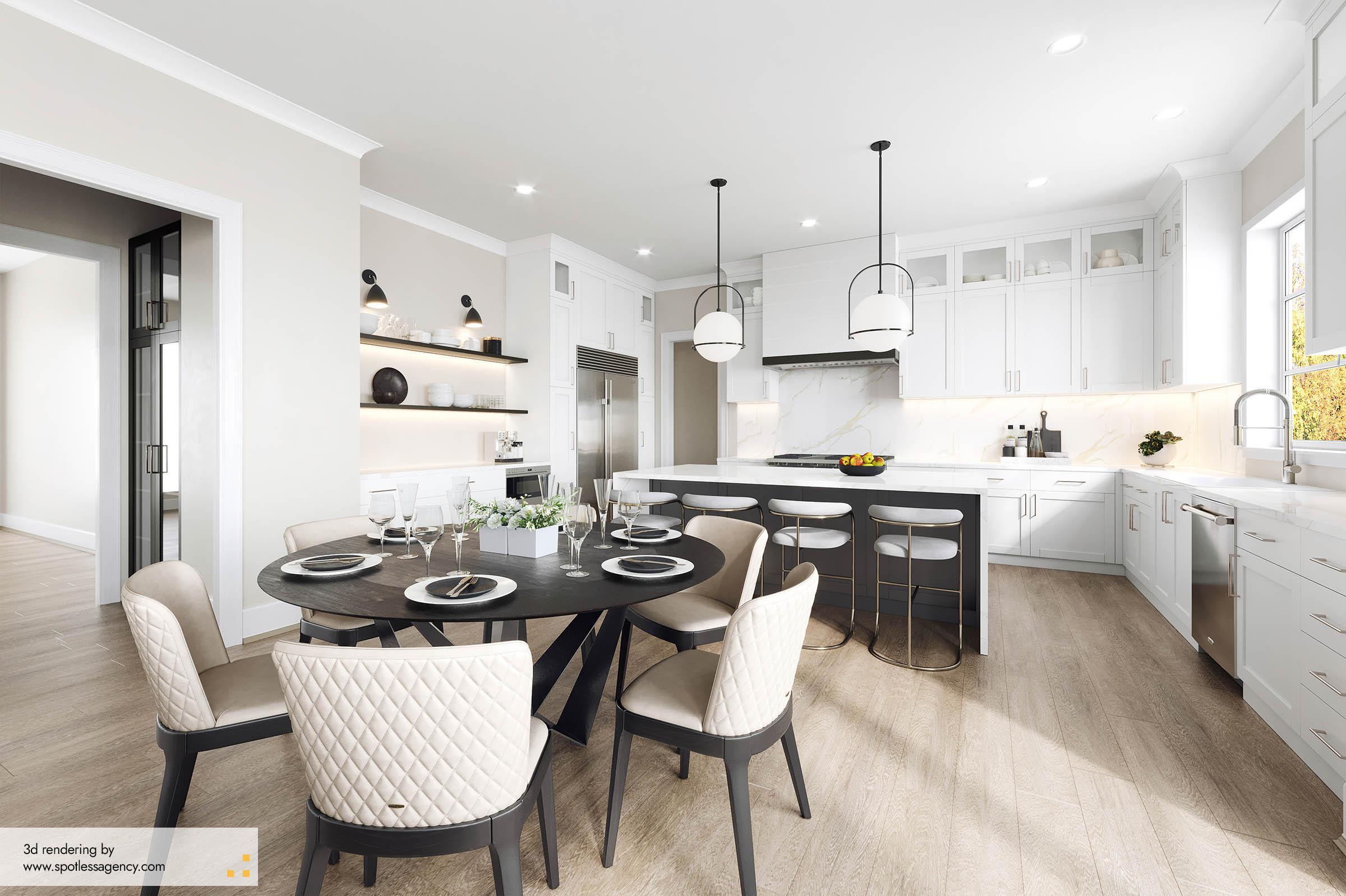 Interior Rendering  Kitchen 5