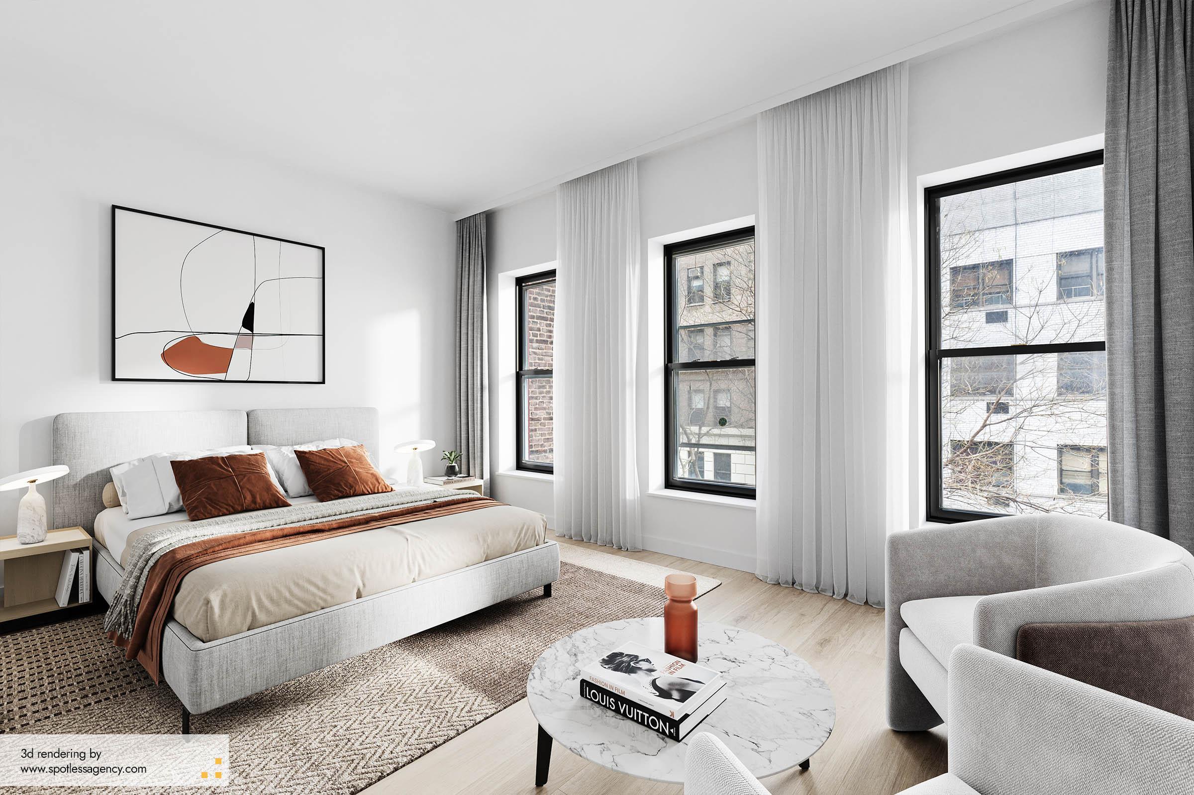 Interior Rendering  Bedroom 4
