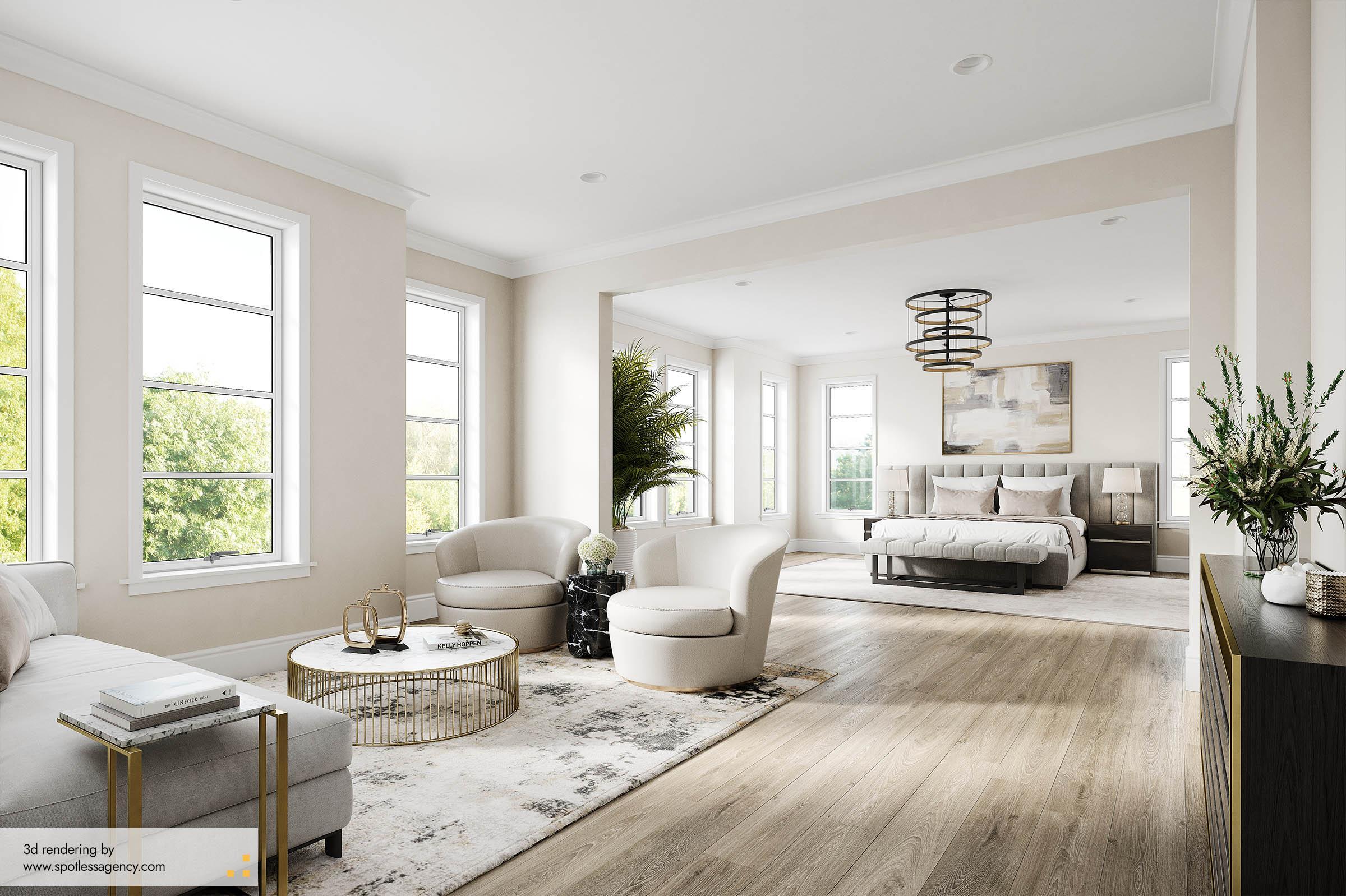 Interior Rendering  Bedroom 3