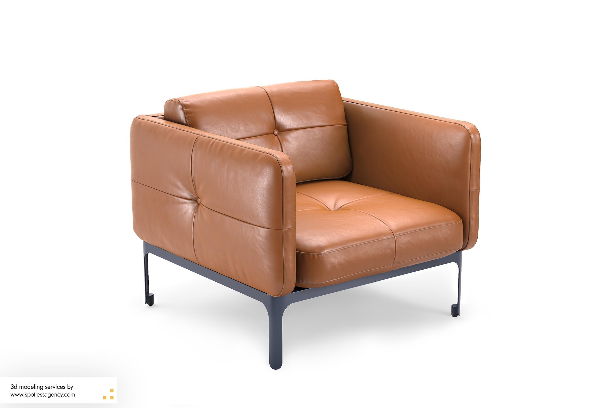 Armchairs 3d Model 5