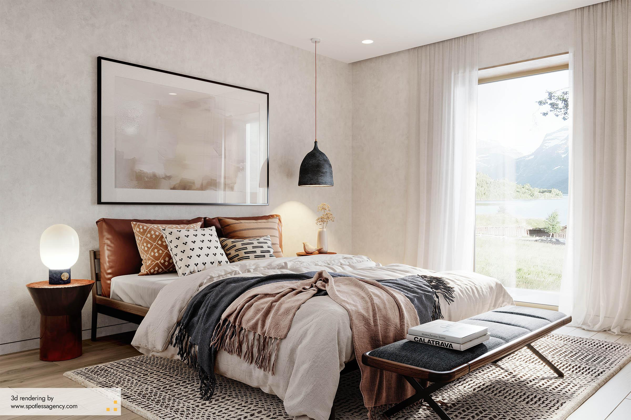 Interior Rendering  Bedroom 6
