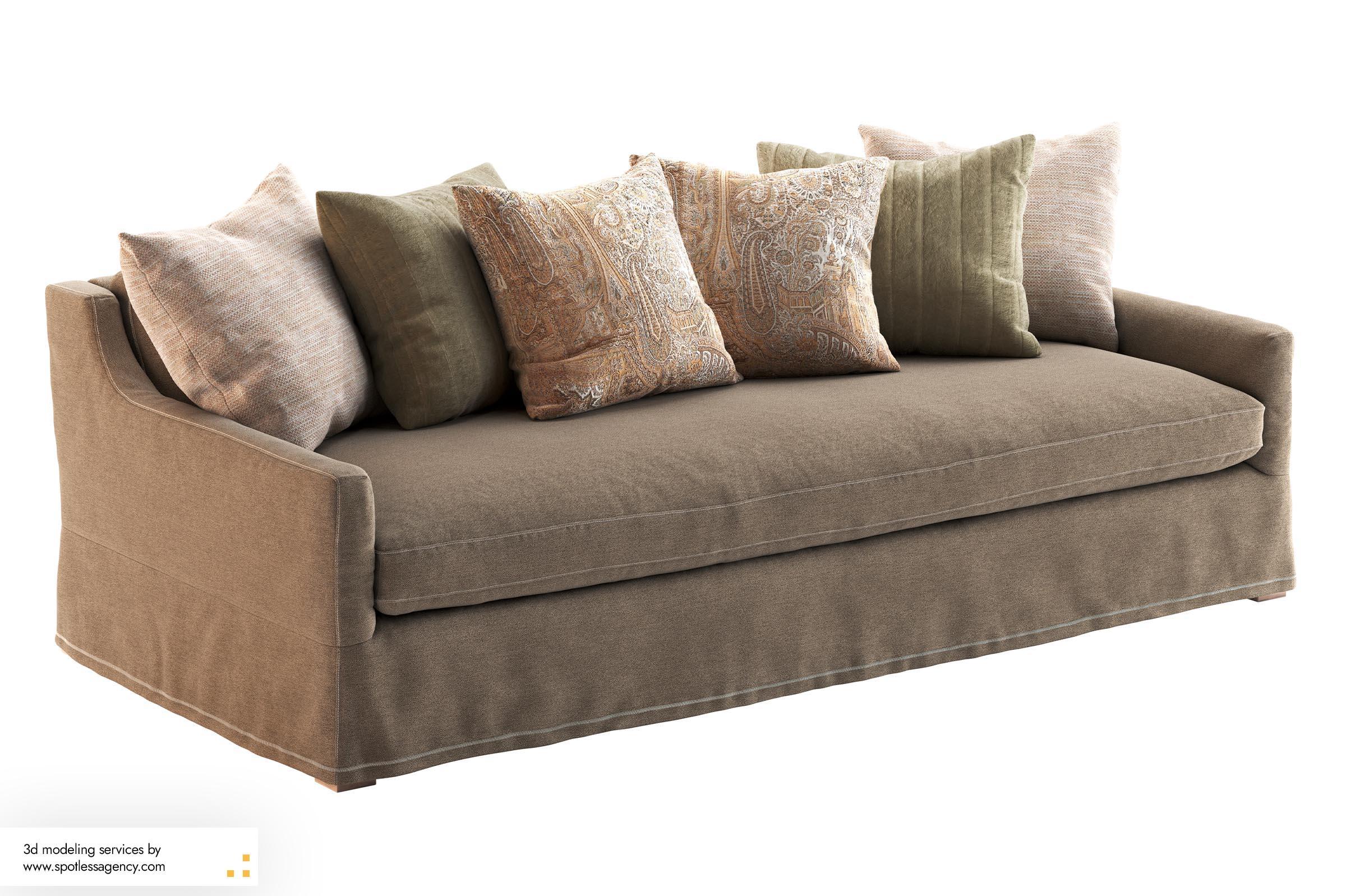 Sofa 3d Model 9
