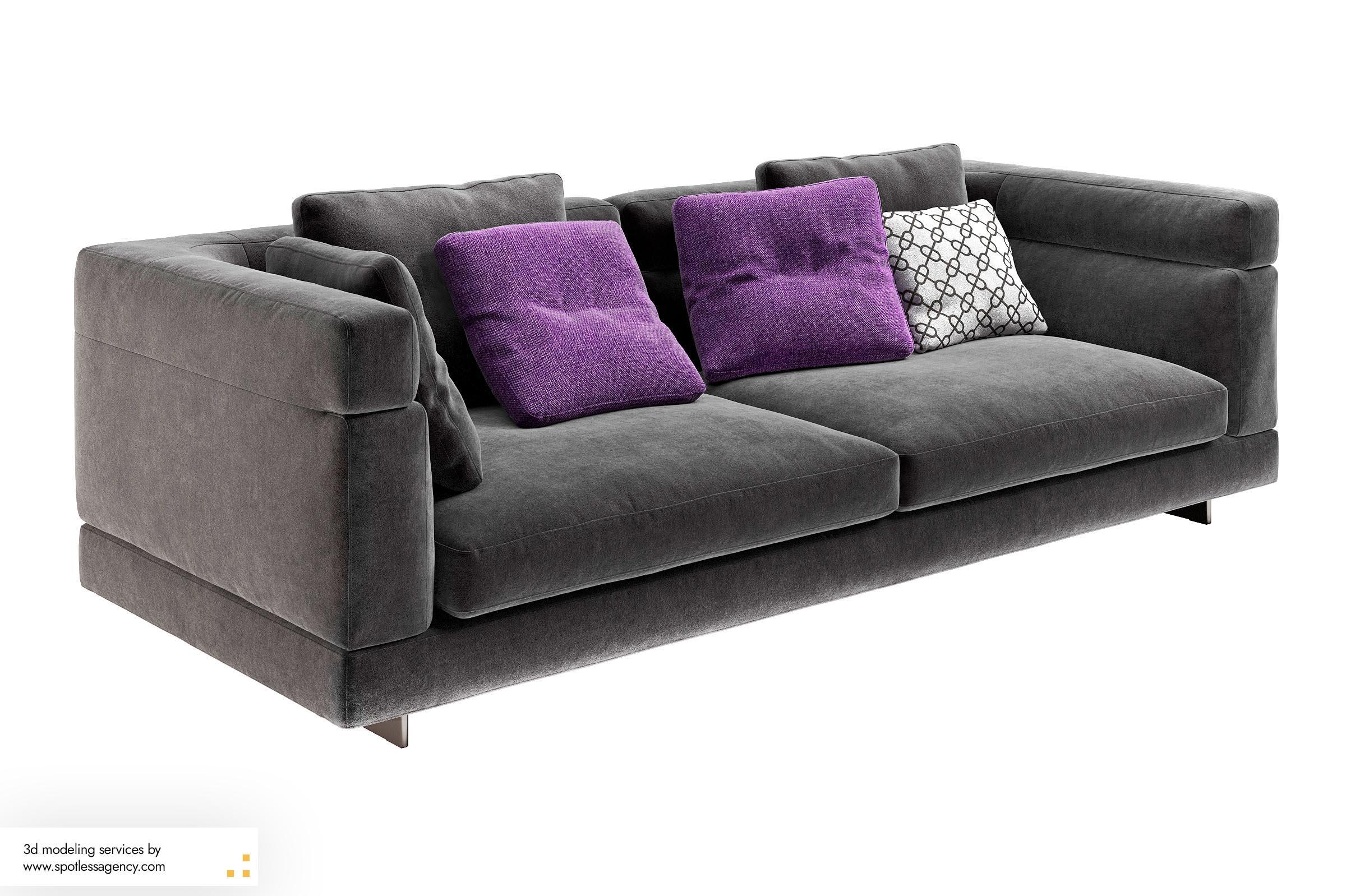 Sofa 3d Model 7