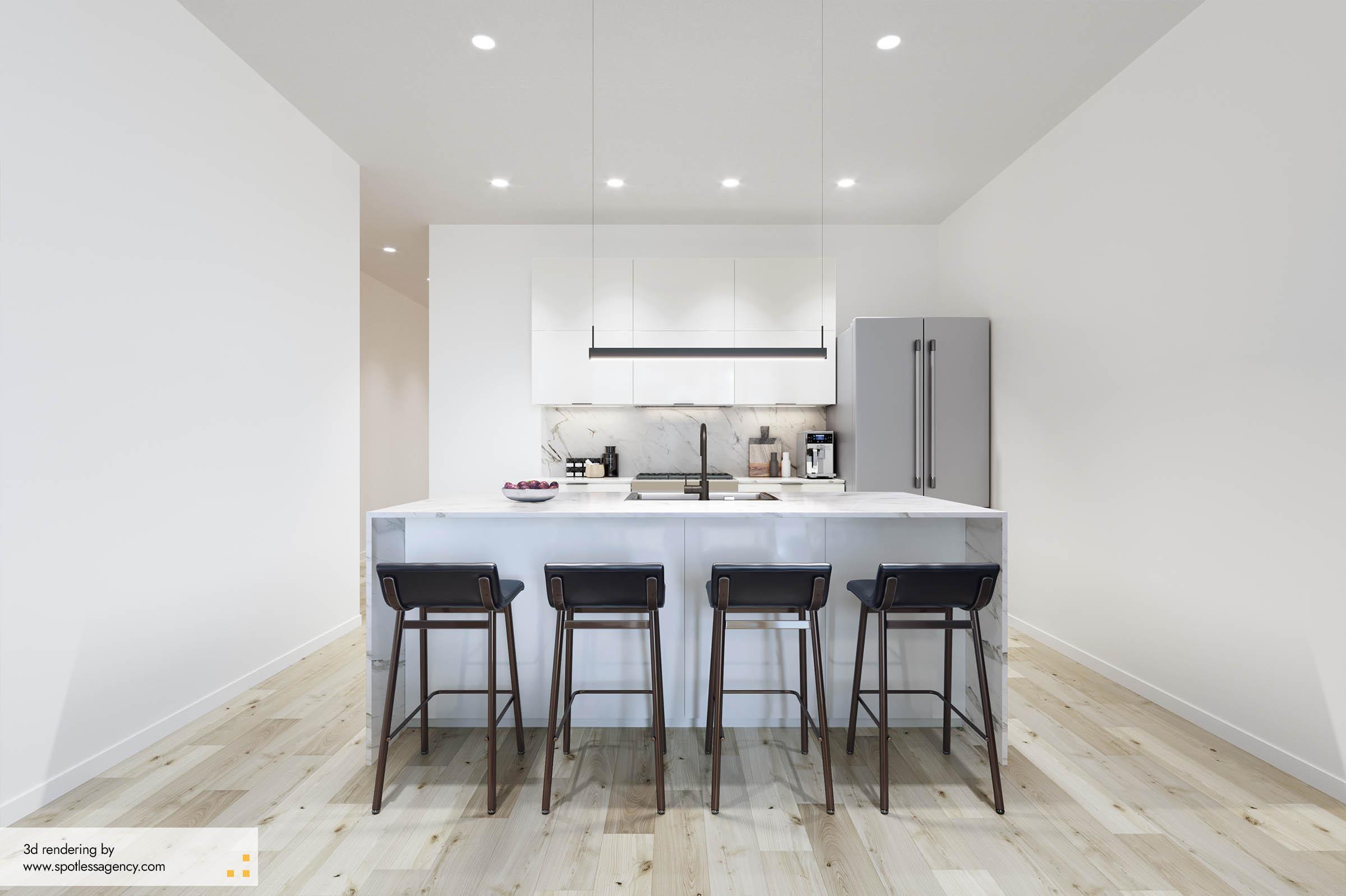 Interior Rendering  Kitchen 4