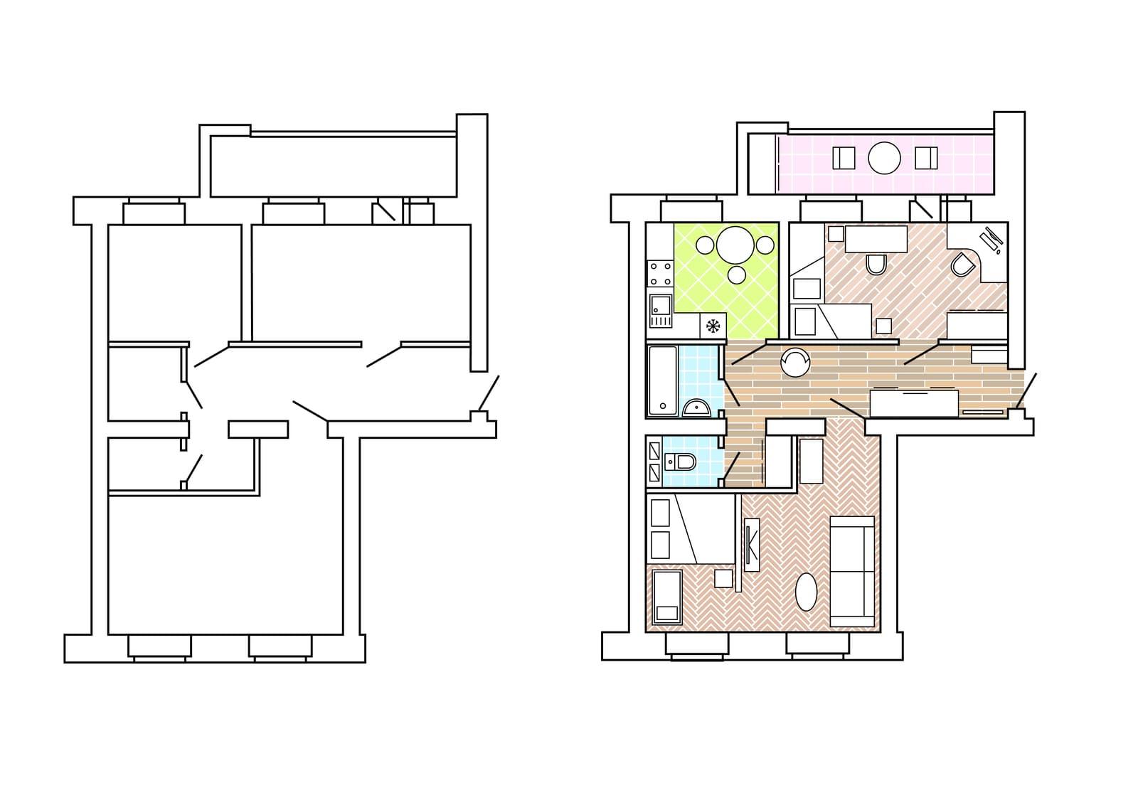 Standart floor plan