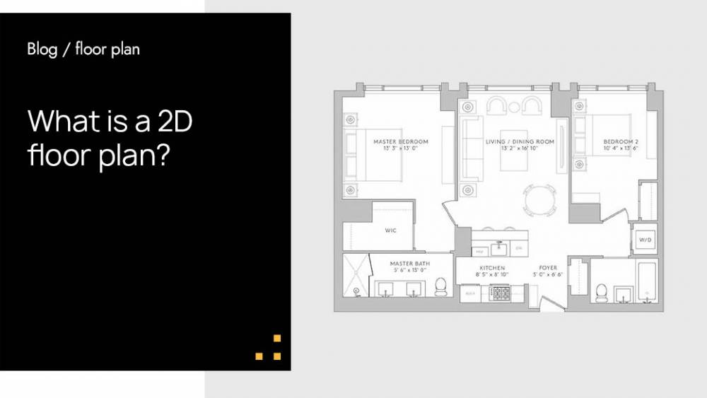 What are 2D floor plans?