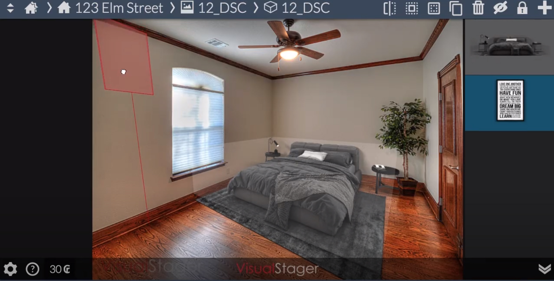 visual stager room