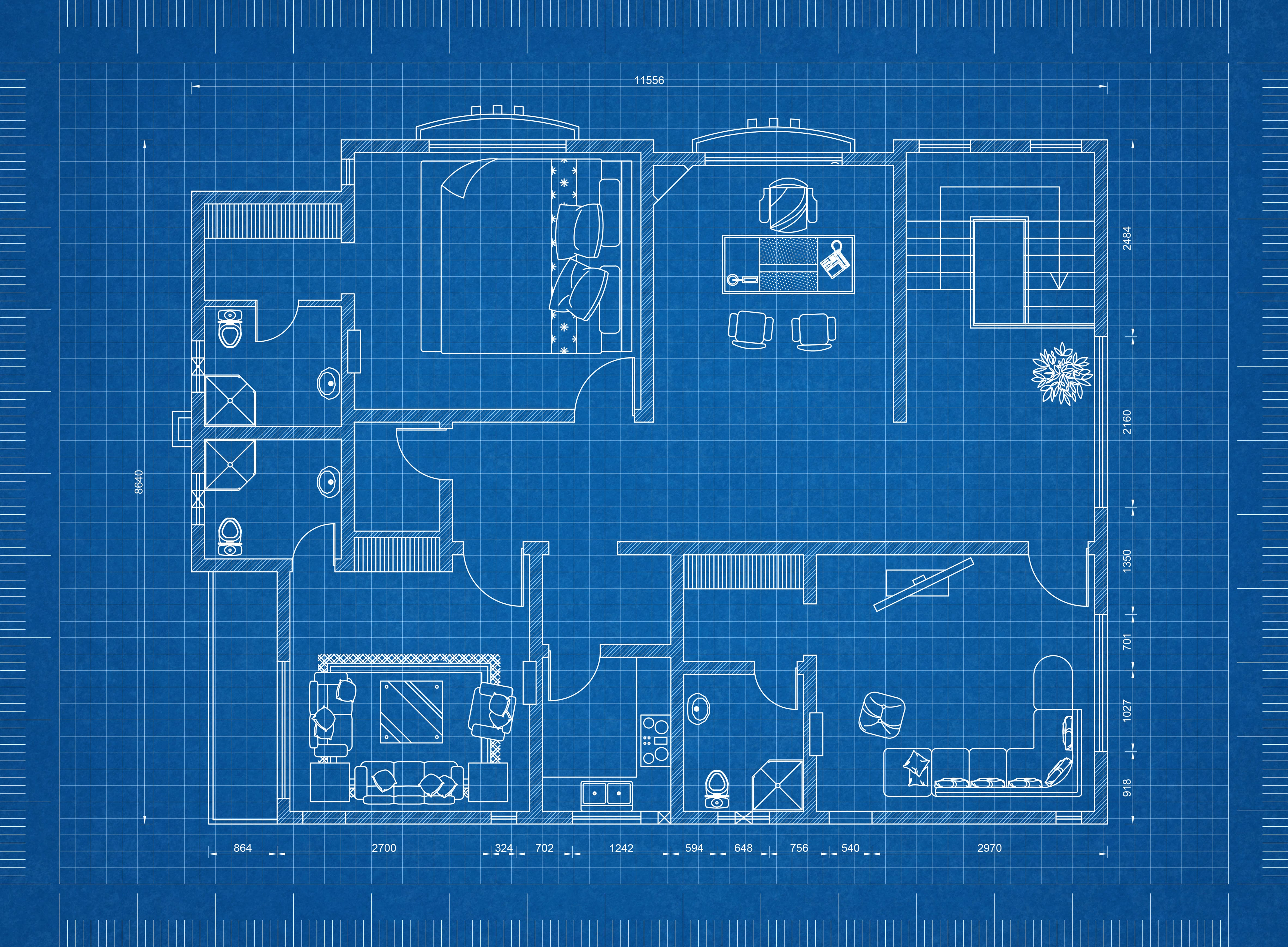 a floor plan of a home