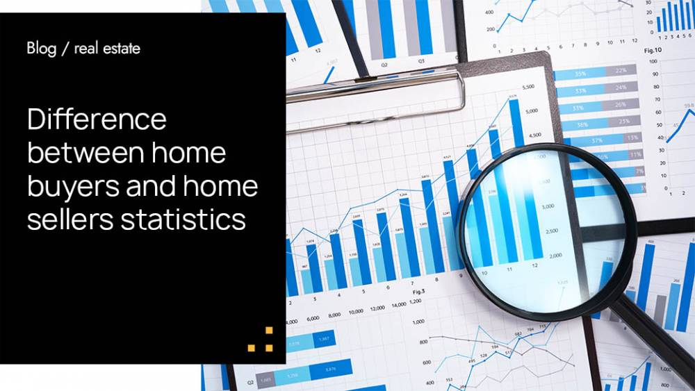 Difference between home buyers and home sellers statistics