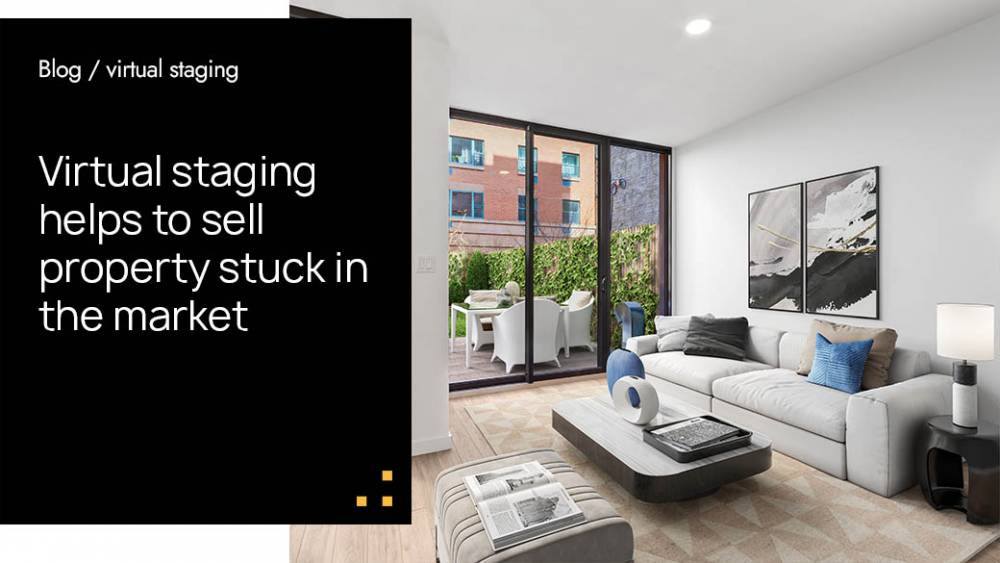 Virtual staging helps to sell property stuck in the market